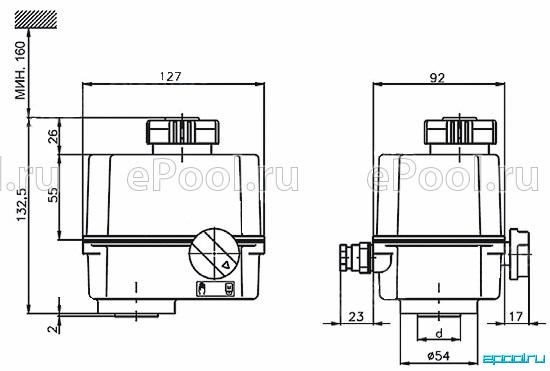 Электропривод SP 0 280.0-09BVX/CP